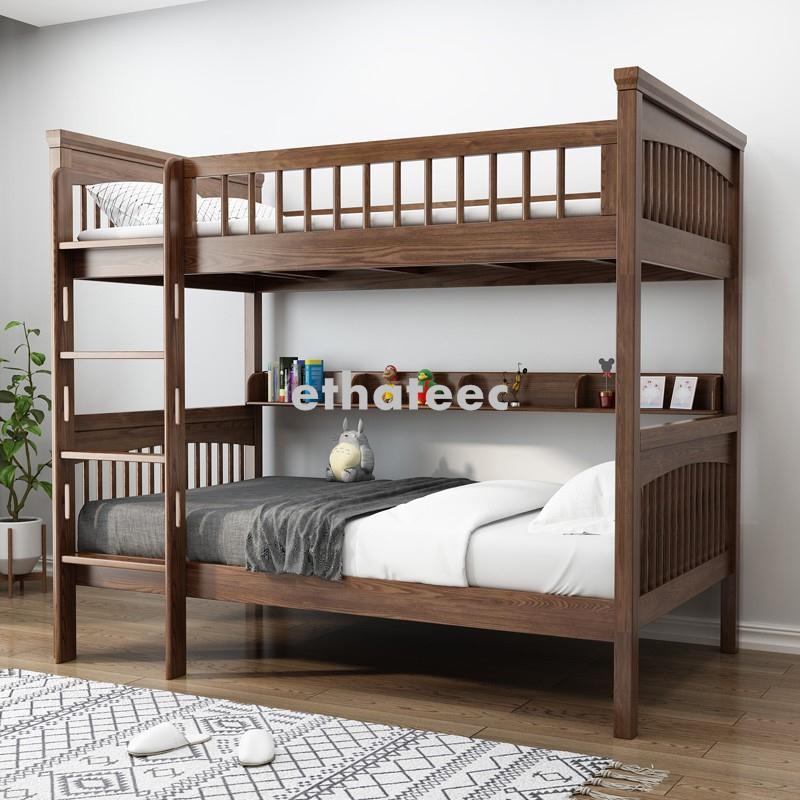 實木高低床子母床高架床雙層床上下鋪宿舍床兒童床白蠟木上下床