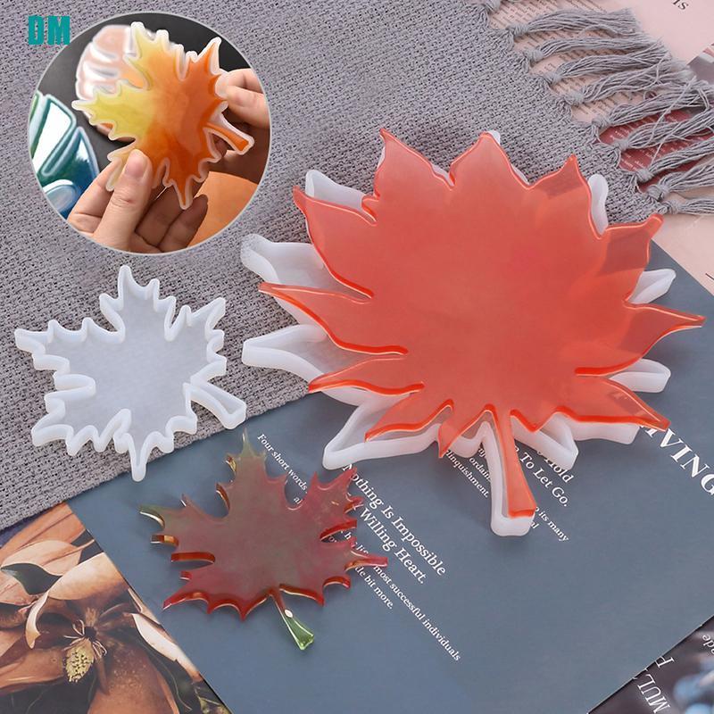 楓葉矽膠樹脂模具鑄造杯墊 Diy 模具珠寶製作工具