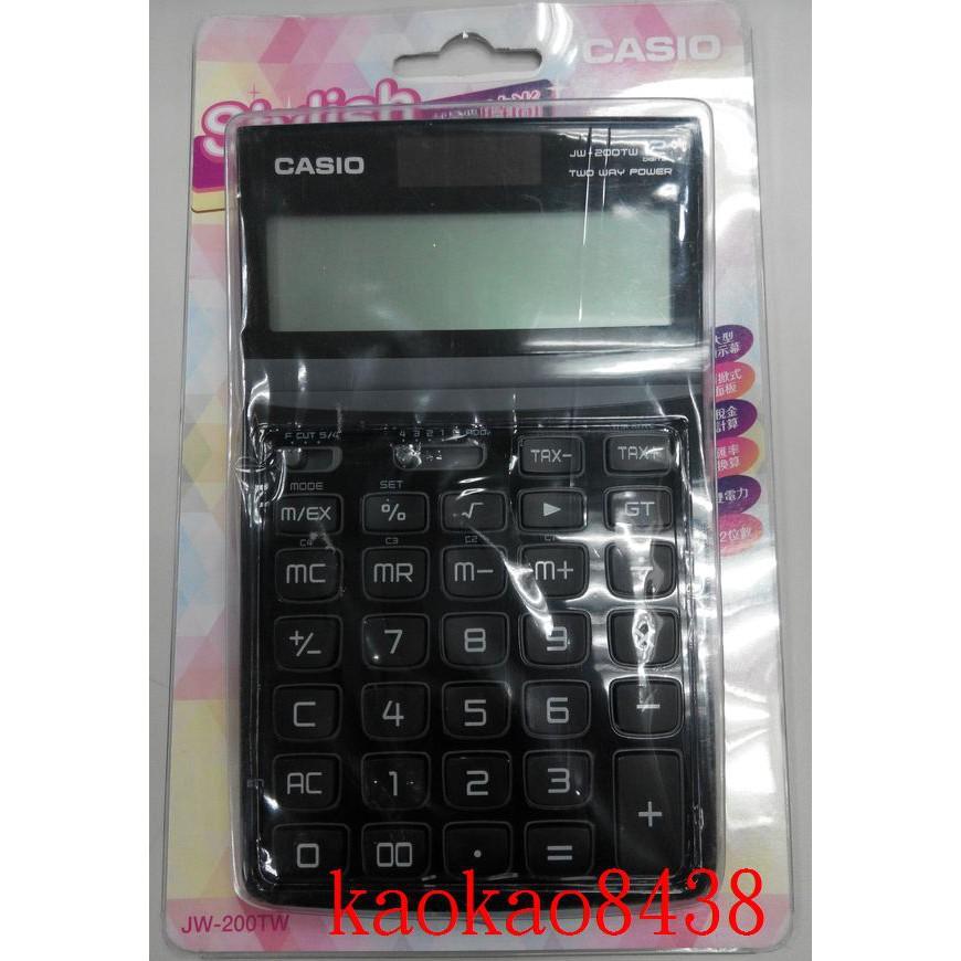CASIO卡西歐 JW-200TW-BK  時尚十二位數 商用桌上型電子計算機(kaokao8438)
