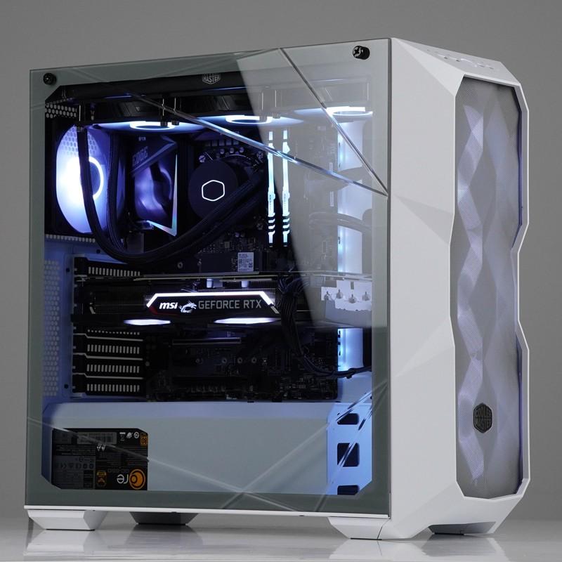 免運快速出貨→白色ARGB RYZEN 9 3900X RTX2070S2080S RTX2080TI游戲設計師主機