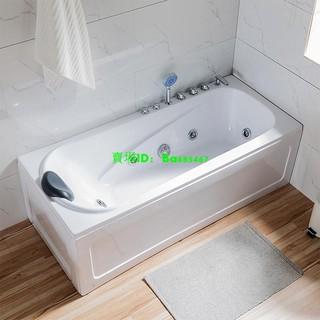 亞克力小戶型家用單人按摩浴缸獨立式長方形成人恒溫加熱網紅浴缸【飾小桃子】