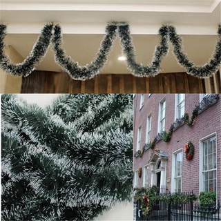200cm 彩色聖誕酒吧裝飾絲帶花環聖誕樹裝飾品白色深綠色派對用品