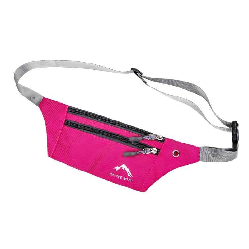 時尚☜♤❈多功能戶外男女運動跑步隱形貼身薄款防盜防水收銀音樂手機小腰包 腰包