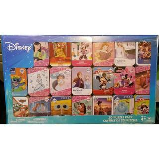 【現貨】Costco 20 Mini Puzzles 迪士尼迷你卡通拼圖24片/ 50片 附鐵盒/ 拆售 新北市