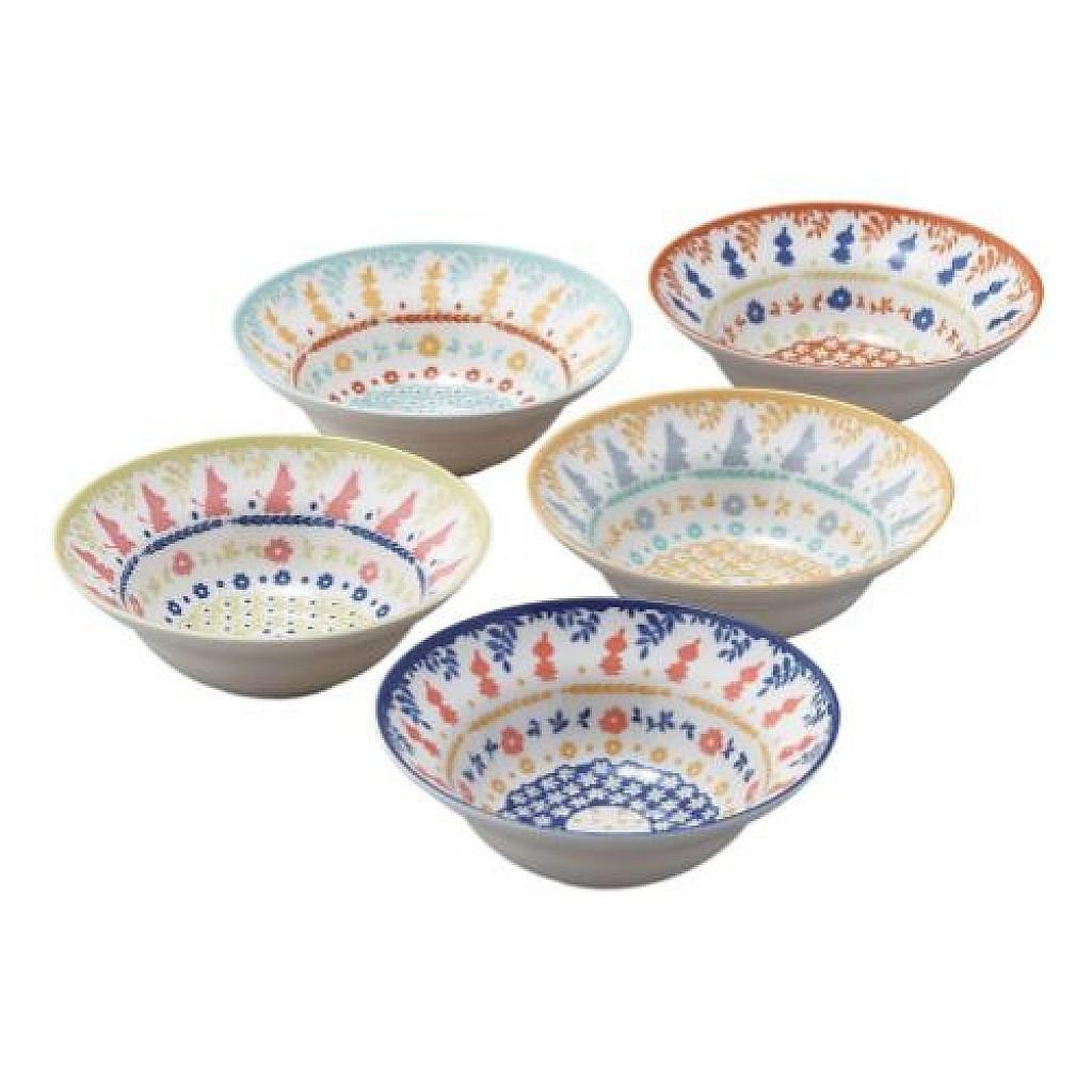 嚕嚕米 MOOMIN 5入輕量陶瓷碗組 日本製 4979855122679