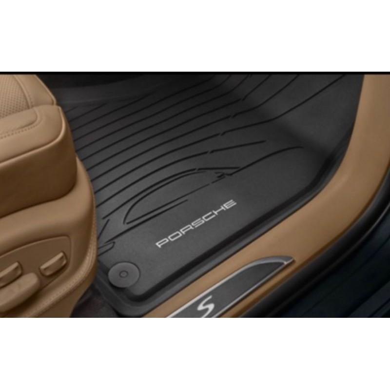 《保時捷車主精品》原廠最新2020年Macan(各年份亦適合) 橡膠集塵腳踏墊