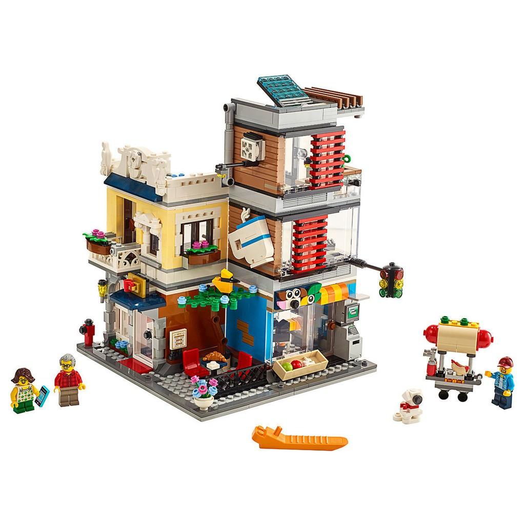 🌈暖心媽媽【現貨】💝樂高積木創意百變寵物店和咖啡廳31097兒童拼裝街景益智玩具11401