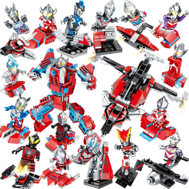 ❅賽羅奧特曼積木兒童人偶怪獸兼容樂高益智迷你小人仔拼裝男孩玩具