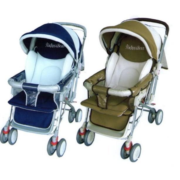 台彎製 Happy Bear 全罩雙向加寬嬰兒推車可平躺 /全罩/ 避震