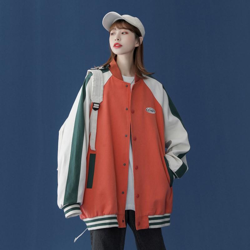 ❤新款服飾❥森系棒球服外套女新款寬松韓版運動春秋冬百搭加厚夾克上衣