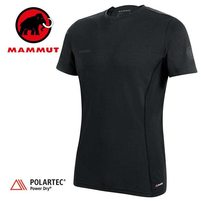 【Mammut 長毛象 瑞士】Sertig 短袖排汗衣 運動上衣 機能衣 短T 男款 黑色 (00110-0001)