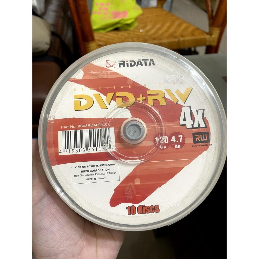 【全新】Ridata DVD+RW 4X 4.7GB 120min 10片一盒 空白光碟 可重覆燒錄