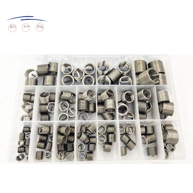 120件/套M6-M18螺紋維修插入套件套裝不銹鋼用於硬件維修工具,螺紋套件