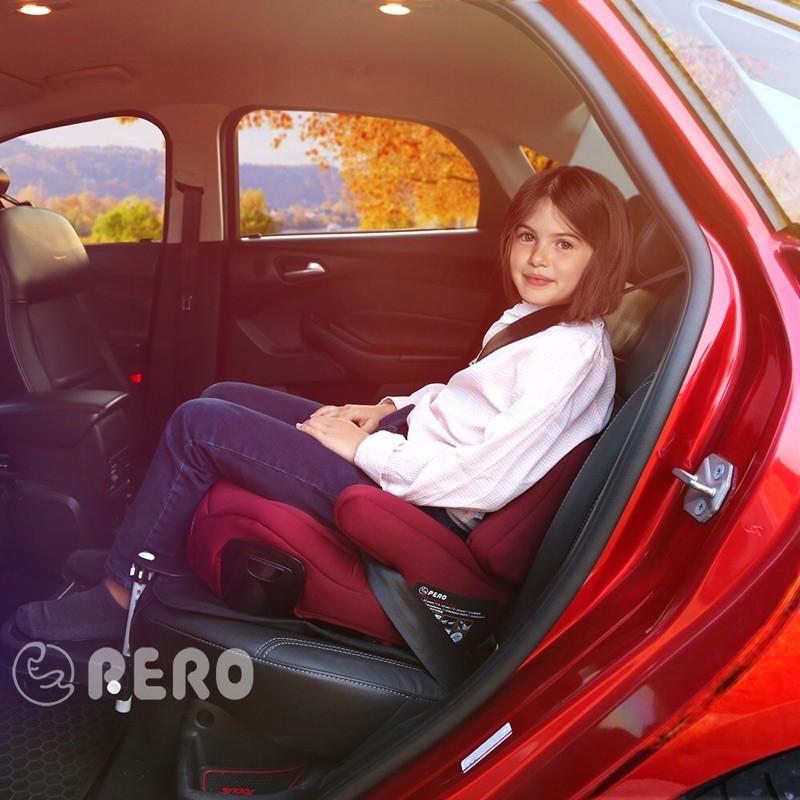Pero ni isofix安全帶兩用增高墊.安全座椅.璀璨紅
