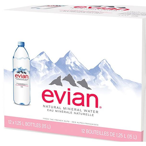 Evian 天然礦泉水 1250毫升 X 12入 W117407