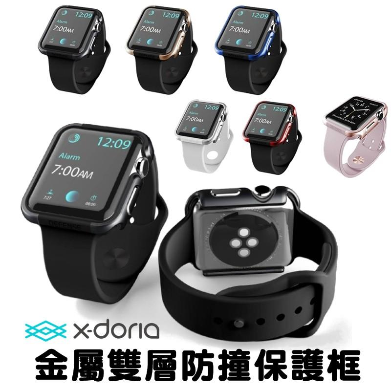 X Doria Apple Watch SE/S4/S5/S6 38/40/42/44mm 保護殼 鋁合金邊框 金屬框