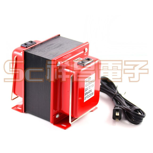 【祥昌電子】TC-2000 台製 雙向變壓器/升壓器/降壓器 110-220V 保險絲 110轉220 2000W