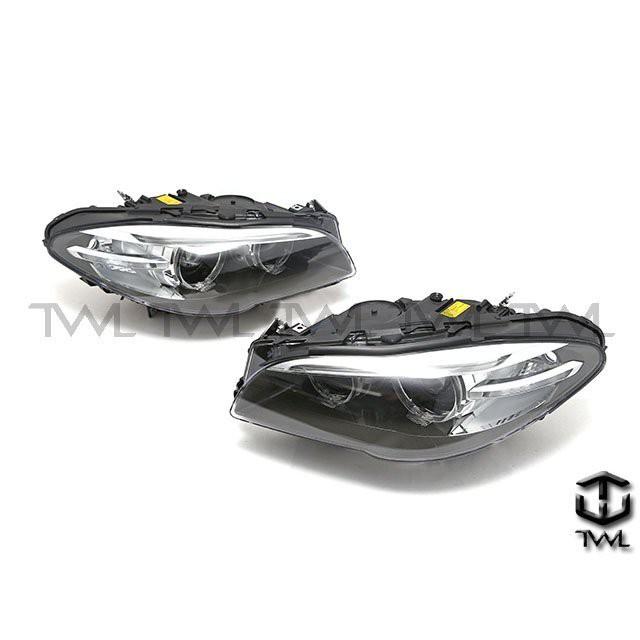 <台灣之光>BMW寶馬F10 F11 17 16 15 14年歐規專用原廠樣式黑底光圈魚眼HID大燈