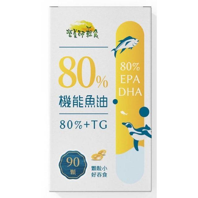 營養師輕食 80%機能魚油