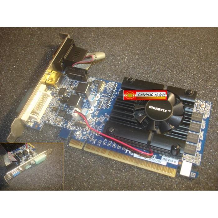 技嘉 GV-N210D3-1GI GeForce 210 DDR3 1G 鍍金HDMI 短卡 風扇版 DVI D-SUB