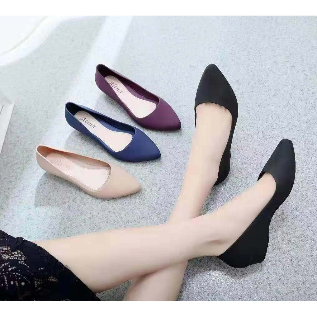 GRIMO Alina Jelly Kasut Tinggi女士Wanita女士坡跟鞋