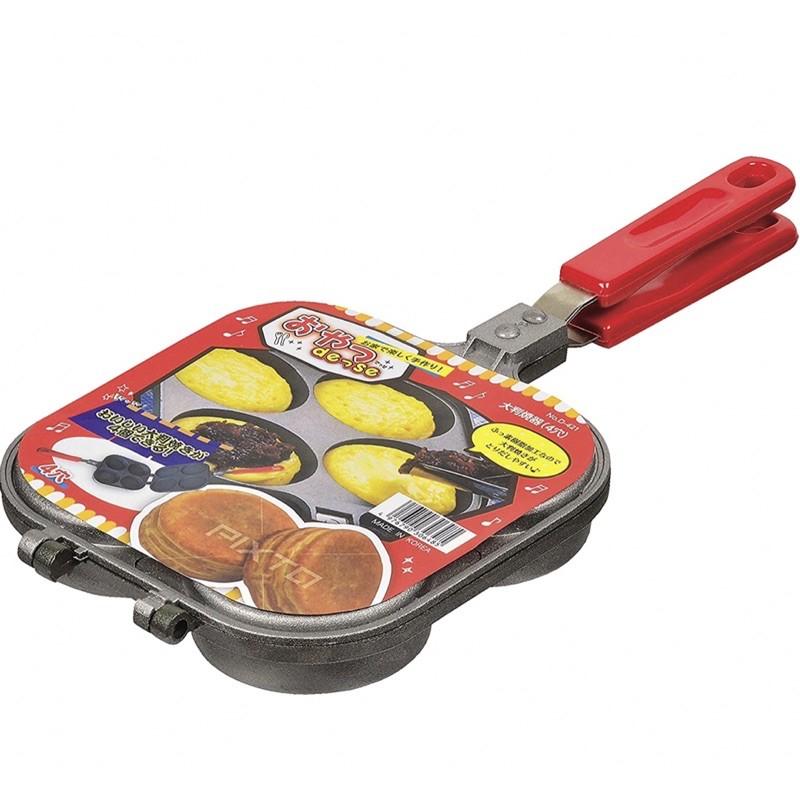 Pearl金属 不沾熱壓模 紅豆餅機 直火專用 氟加工 D-420