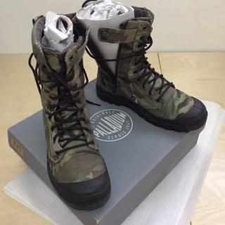 二手 鞋 PALLADIUM 靴 軍靴 迷彩靴 布面非防水款 男鞋USA8號半 女鞋USA10號