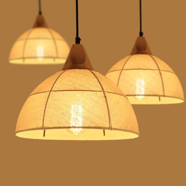 悠悠推薦後現代北歐loft個性日式餐廳北歐現代簡約木藝布罩麻布實木吊燈布藝吊燈咖啡廳酒吧裝飾燈飾燈具