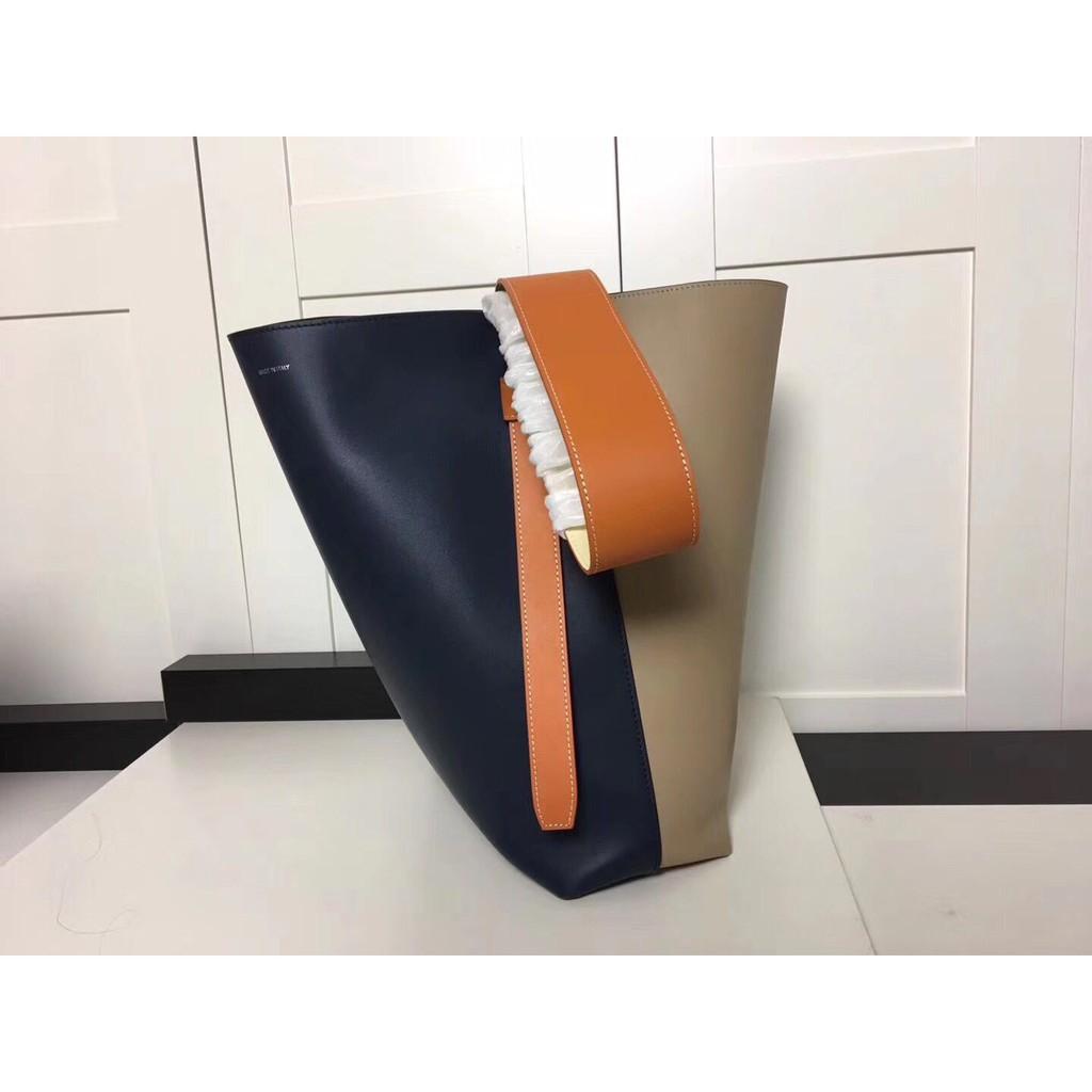 Celine 賽琳女包 TWISTED CABAS拼色水桶包購物袋手提包單肩斜挎包 現貨