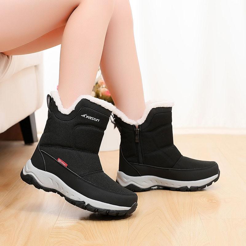 2020冬季新款雪地靴女加絨加厚棉靴子厚底運動短靴高幫保暖棉鞋女