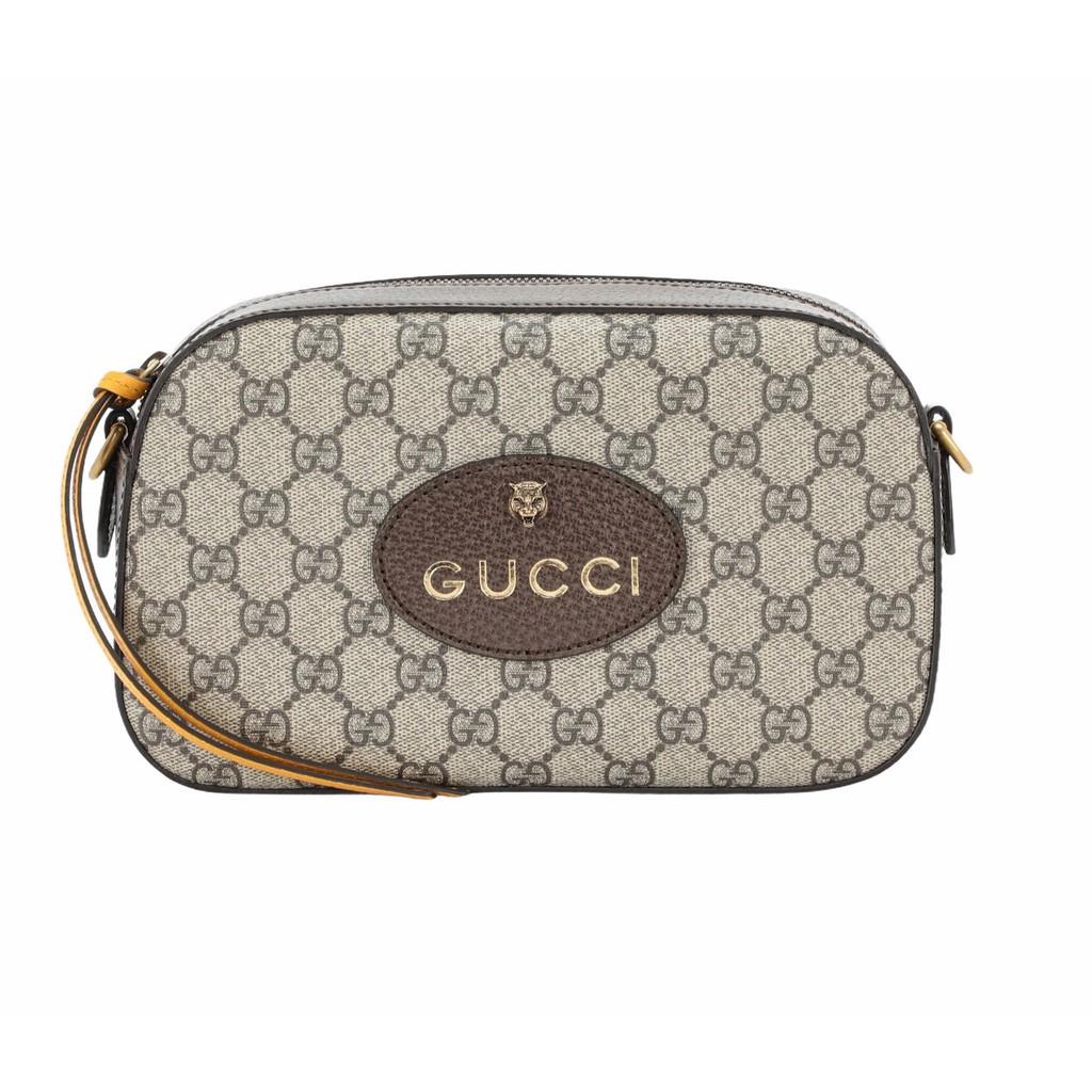 Gucci GG Supreme 476466 老虎浮雕裝飾相機包