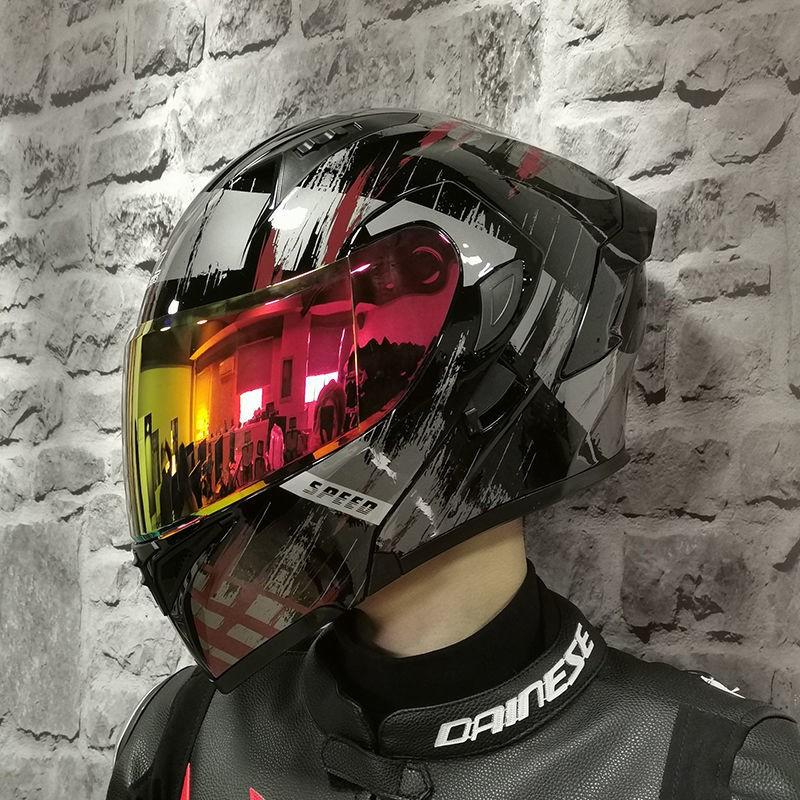 ORZ摩托車頭盔全盔跑盔個性酷全覆式機車男女四季通用安全帽網紅