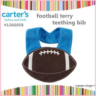 Enen Shöp @Carter's 可愛橄欖球造型口水巾/ 圍兜兜 #126G058 新生兒/ 彌月禮 新竹縣