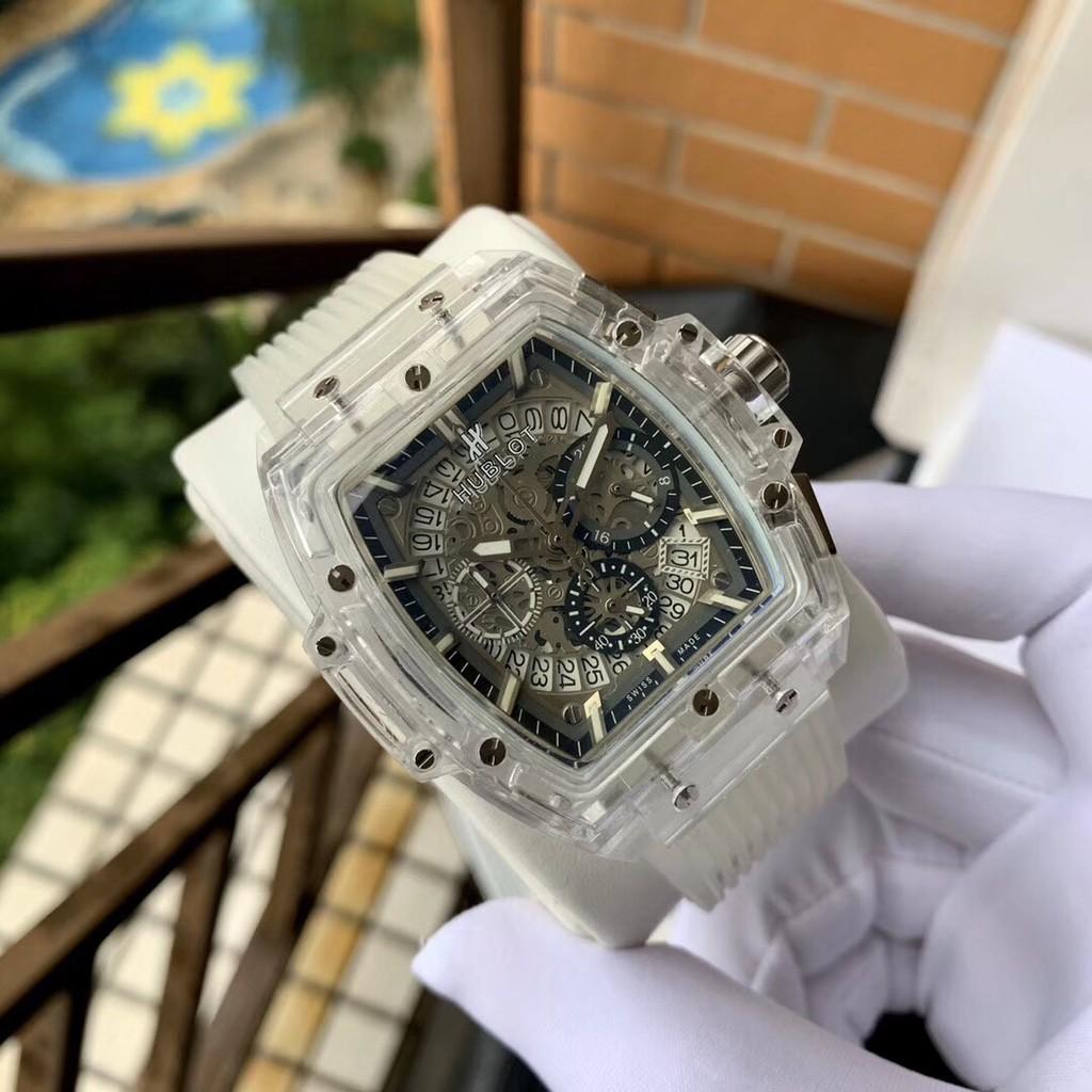 Duty-嚴選 實拍 HUBLOT 宇舶 Big Bang Unico魔力透明腕錶 石英機芯 手錶