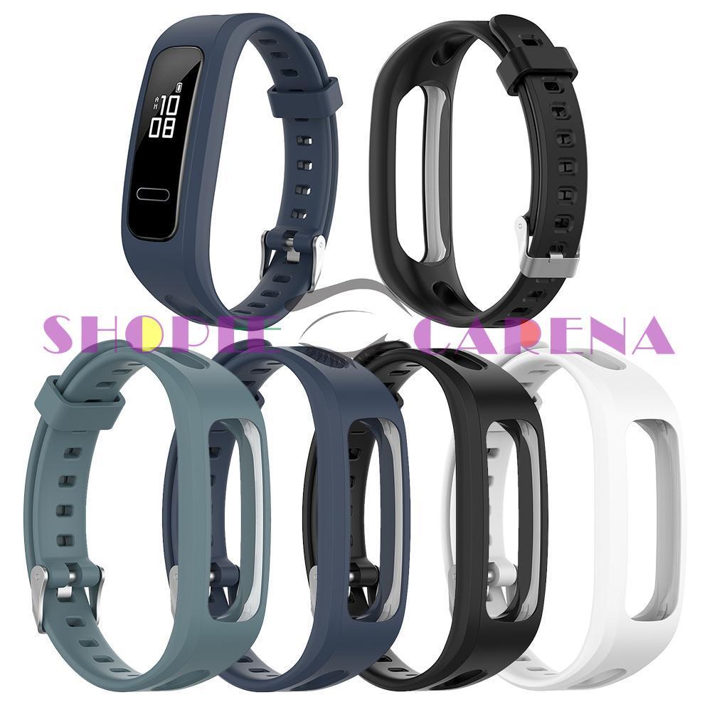 (Shopeecarenas) 華為 Honor Band 4 跑步版 / 華為 Band 3e 的矽膠錶帶