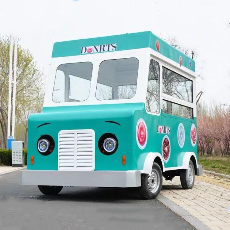 餐車電動四輪油茶攤位手推車商業早餐車移動 RV 多功能零食車