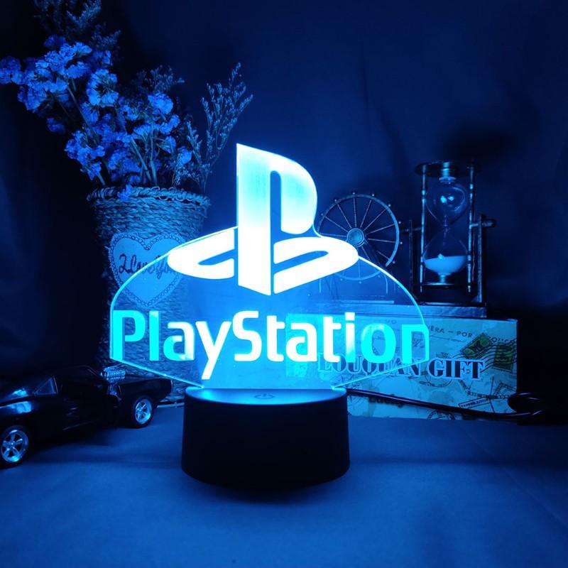 KOK 遊戲室書桌設置照明裝飾LED小夜燈標誌-PlayStation / -XBOX