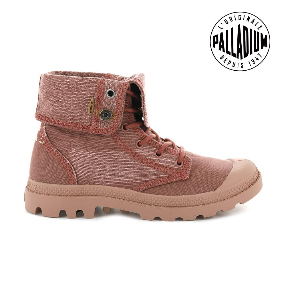 Palladium PALLADENIM BAGGY單寧帆布靴-男-磚紅