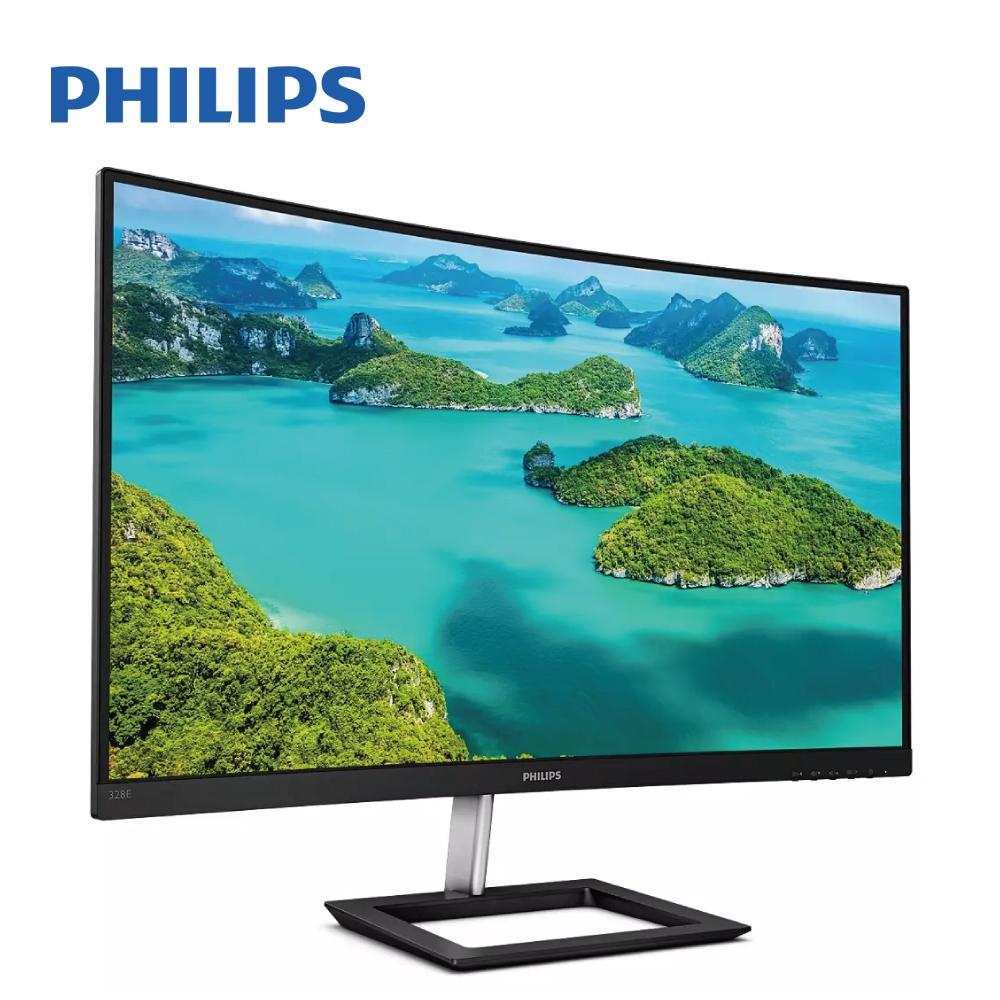 PHILIPS 32吋 4K VA 曲面專業螢幕 (328E1CA)【現貨】【GAME休閒館】