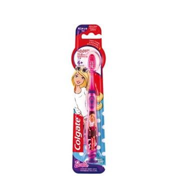 <公司貨 開發票> 高露潔 兒童牙刷 吸盤式站立 0.01mm超細刷毛_芭比 蝙蝠俠 6歲(含)以上