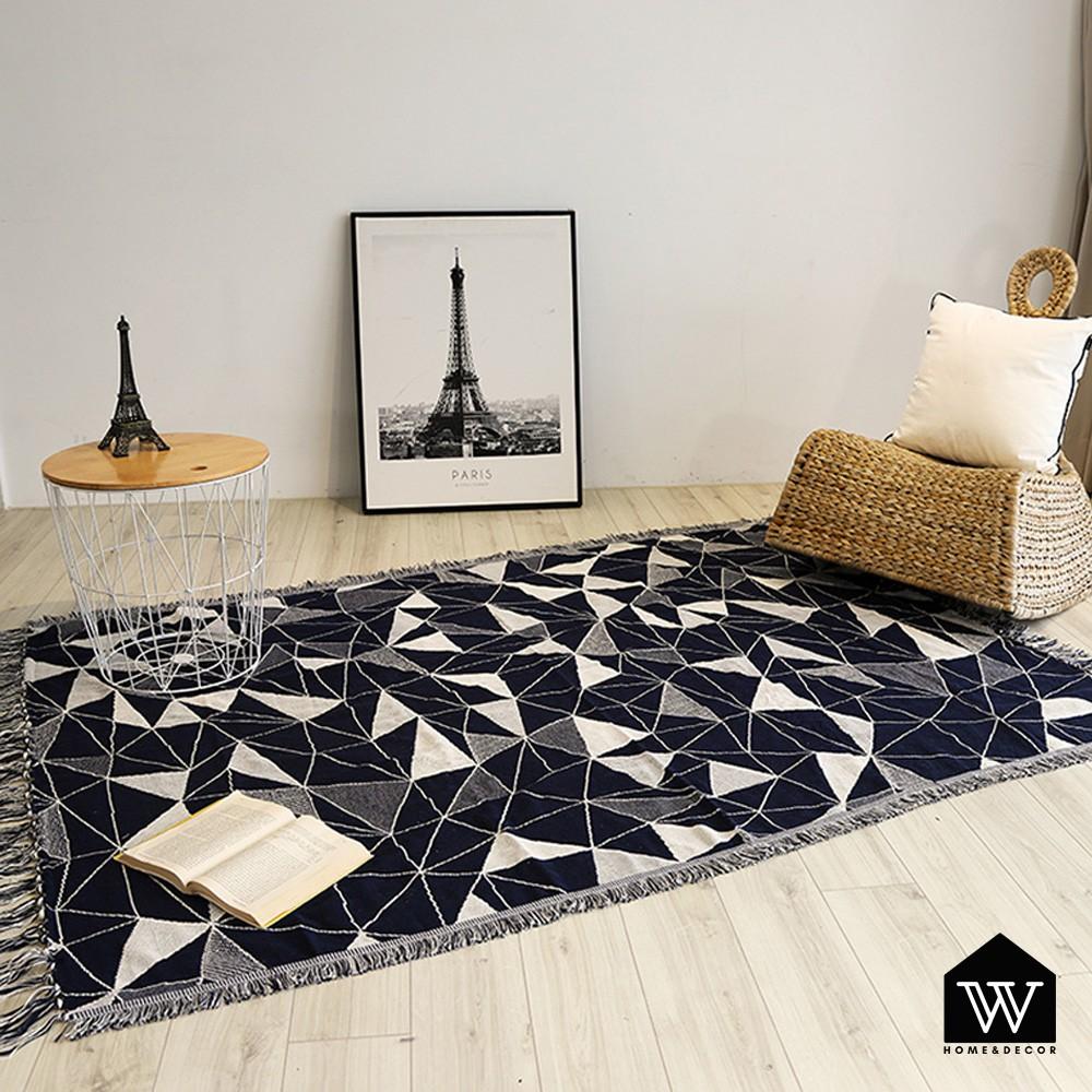 【好物良品】多功能雙面沙發毯休息蓋毯裝飾背景沙發蓋巾-三角幾何|波西米亞風 露營拍照神器 美式鄉村