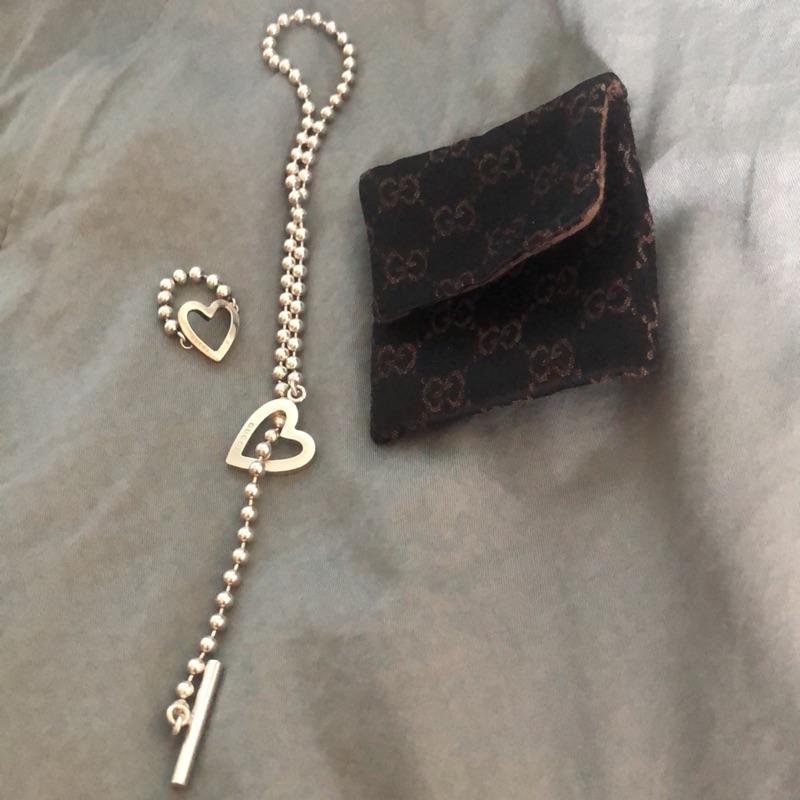 Gucci銀項鍊及銀戒指