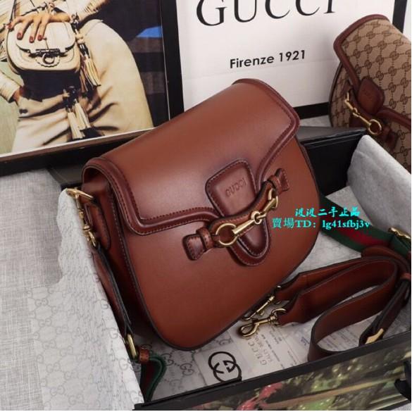 【波波二手】Gucci 古馳 走秀款 Lady web經典復古馬鞍包 單肩包 斜挎包 晚宴包383848