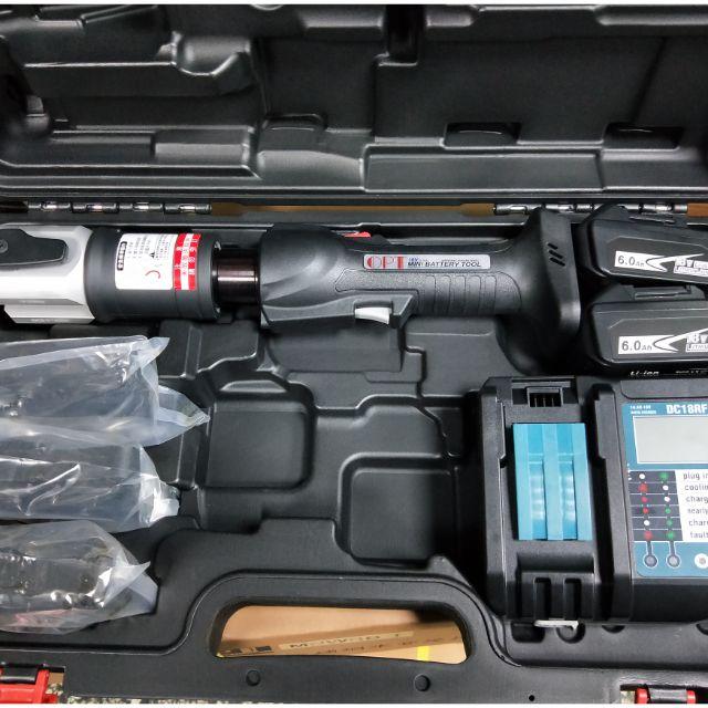 (日盛工具五金)全新OPT可比REMS ASADA台灣製 18V充電式,白鐵管壓接機6.0電池36000元全配