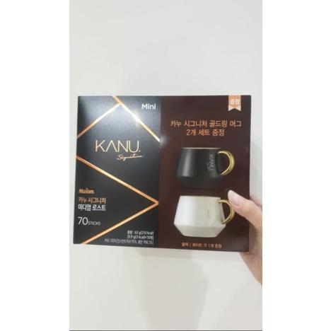 韓國代購【現貨】kanu 升級款 signature 韓劇我的室友是九尾狐 mini 深培黑咖啡 美式 50+10