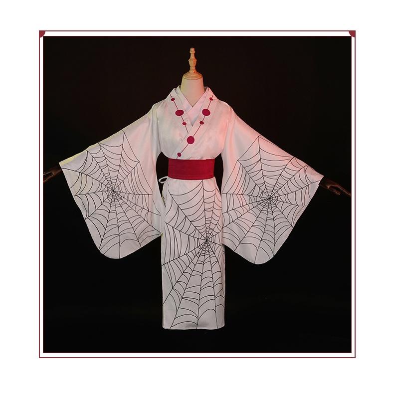 【三分妄想】鬼滅之刃 累 十二鬼月 蜘蛛鬼累 和服 cos服裝 現貨