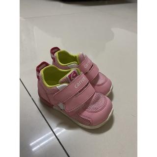 Moonstar 日本Carrot速乾網布3E粉色寶寶機能學步鞋 臺南市