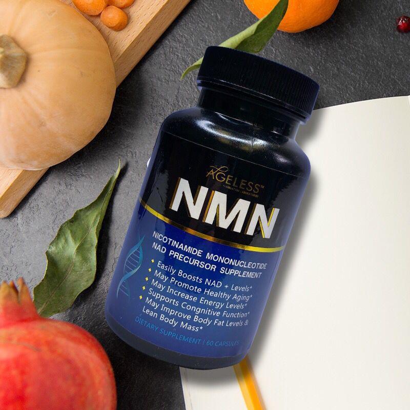 Ageless美國進口NMN9600煙酰胺單核苷酸 NAD補充劑膠囊60粒