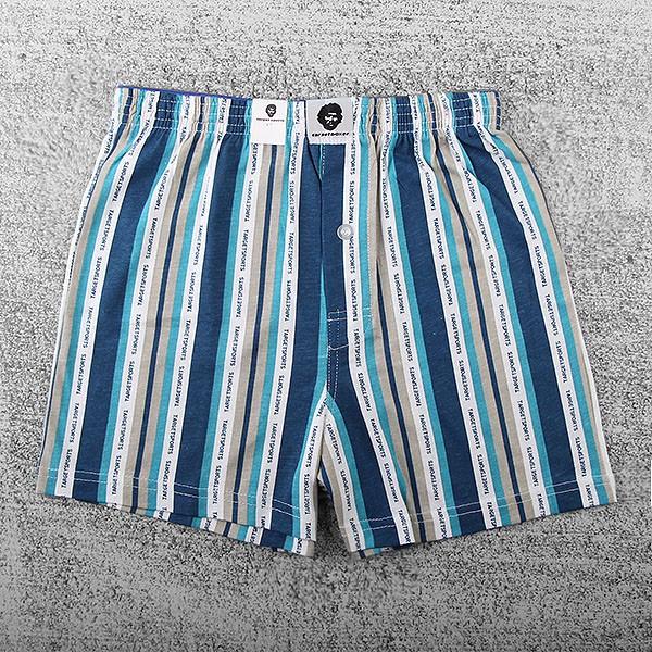 TARGET SPORTS 男性/平口褲/四角褲/針織款 改版新尺寸條紋針織印花平口褲