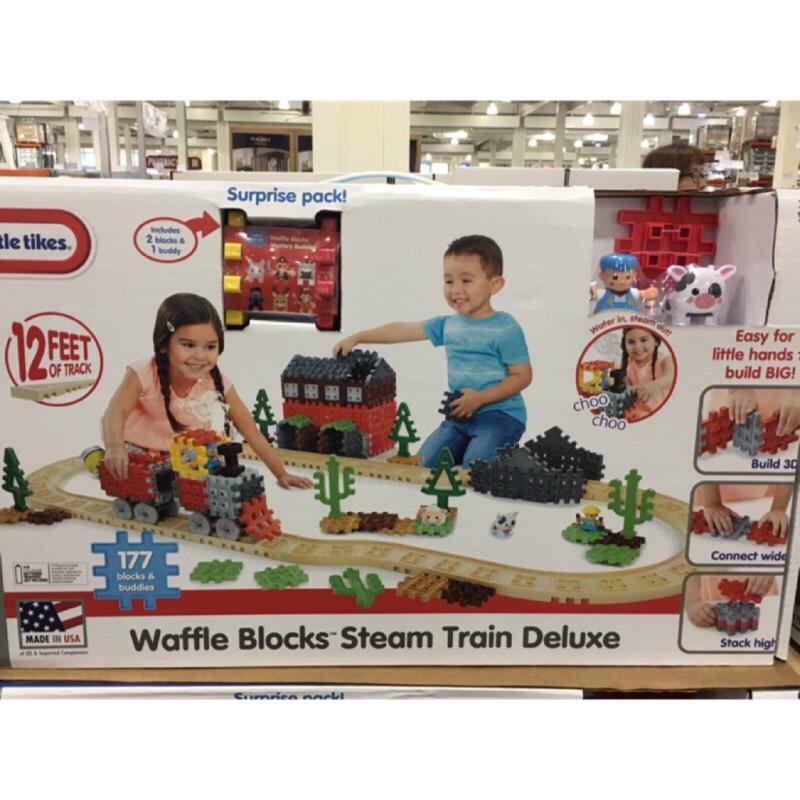 【Costco 好市多】 LITTLE TIKES 小泰克鬆餅積木火車軌道組 NT$1799-